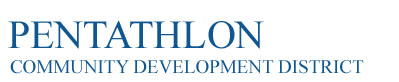 Pentathlon Community Development District Logo